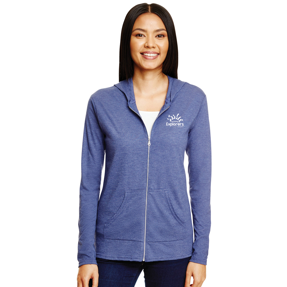 Anvil Ladies' Triblend Full-Zip Jacket